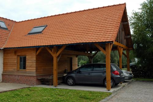 Couverture d'un carport